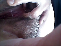 my wife gets wet and cums on  public WC