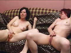 two girls masturbating together