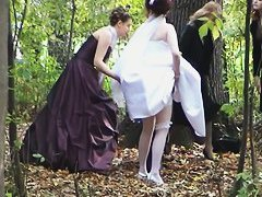 This voyeur video provides a rare opportunity to see a bride taking a...