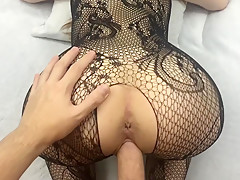 Super Sexy Brunette With Black Lingerie Gets Creampied! - Sweet Creampie