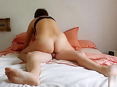 real mom ride her son till her cum inside her pussy