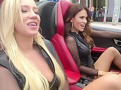 CAMSODA -VANESSA VERACRUZ MASTURBATING AND LESBIAN SEX DRIVING LAMBORGHINI