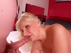 Anna Valentine horny blonde hungarian mature and a young guy