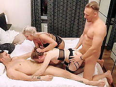 Amazing first foursome with Kate Truu - short version