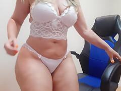 sensual white lingerie dance