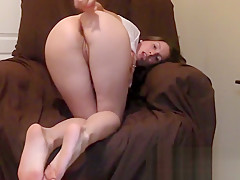 I bend over and beg you to cum all over my ass and pussy and