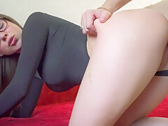 STEPSISTER IN LEGGINGS WANTS TO FUCK AND SUCK MY COCK