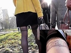 Darksome nylons up petticoat episode closeups