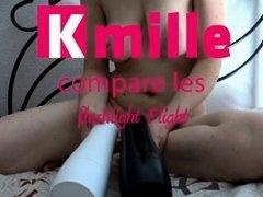 Kmille compare Fleshligh FLIGHT White VS Fleshligh FLIGHT Black