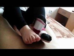 Footjob. Only socks