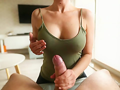 Wow ! She give me a morning wet surprise