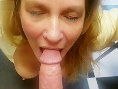 My Best Friends Hot Horny Mom Surprises Me and Sucks On my Big Young Cock