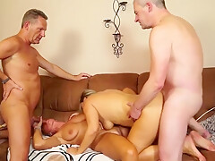 Two swinger couples enjoy having dirty and crazy foursome se