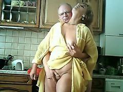 Concupiscent aged granny