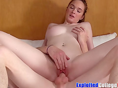 Amateur coed Ellie aka Hazel Moore dicked anal 1st time