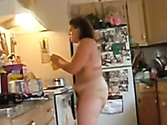 BBW Naked in the Kitchen