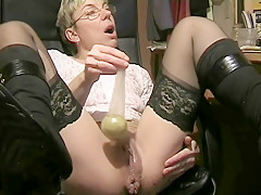 Matbigplayhome - german granny dirty anal dildo camshow