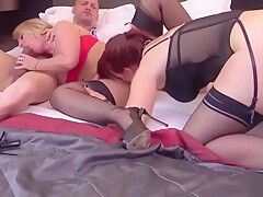 Blonde French Mature Brought Home by Her Friend to Share