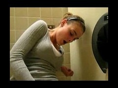 teen masturbating on school toilet