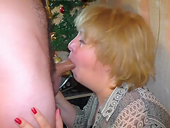 New Year's anal sex mom and stepson