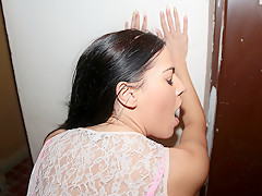 Eveline Dellai in Euro Chick Flashes Ass for Cash - PublicPickups