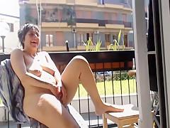 Masturbation on the balcony