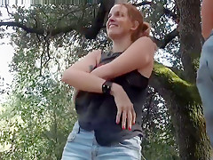 Lovely Couple Becomes one with Nature - Outdoor Sex