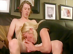 Lonely cougar mom seduces and fucks young boy in hotel on vacation